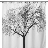 "Black Tree Fabric 72"" x 72"" Shower Curtain"