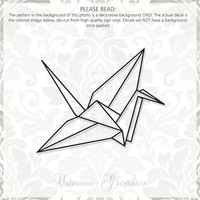 Origami Paper Crane || Vinyl Window Decal