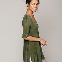 Free People Womens Melrose Swing Tee -