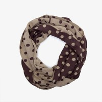 Poketo Two Toned Polka Dot Infinity Scarf