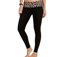 LeopardBlack Chevron Yoga Pants