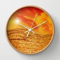FIRE AND WATER Wall Clock by catspaws
