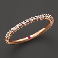 Roberto Coin 18K Rose Gold and Diamond Pave Ring