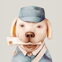 """""""Delivery Dog"""" - Art Print by Animal Crew"""