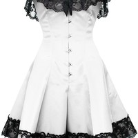 White Corset Dress with Lace