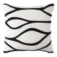 Threshold™ Cotton Canvas Decorative Pillow Black 18x18""