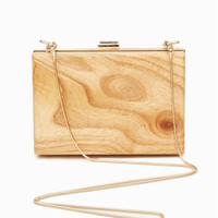 WOOD BOX CLUTCH