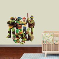 Teenage Mutant Ninja Turtles Decal - Hero Printed and Die-Cut Vinyl Apply in any Flat Surface - Ninja Turtles Wall Art Design Decor