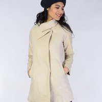 Studded Wool Coat - Clothing