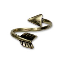 VINTAGE ARROW BRASS WRAP RING BRONZE