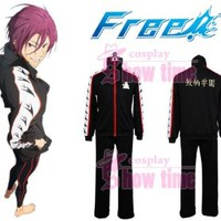 Free! Iwatobi Swim Club Rin Matsuoka Uniform Costume Cosplay