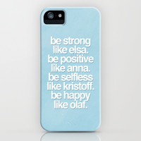 Be Strong, Be Positive, Be Selfless, Be Happy iPhone & iPod Case by hopealittle