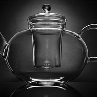 German Glass Tea Pot With Strainer