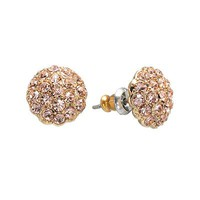 LC Lauren Conrad Gold Tone Simulated Crystal Button Stud Earrings