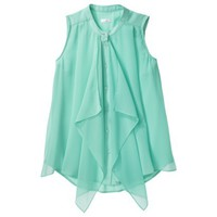 Xhilaration® Junior's Sleeveless Top with Scarf - Seafoam