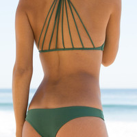 The Girl and The Water - Mikoh Swimwear - Lahaina Bikini Bottom / Seaweed - $78