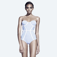 chromat — X Bustier Suit- Blue