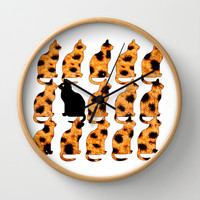 CATTERN - CHEETING Wall Clock by catspaws