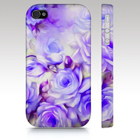 Floral iphone case, iphone 5 case, iphone 4s case, iphone 5s case, floral iphone 5c, vintage floral case, purple roses, art for your phone