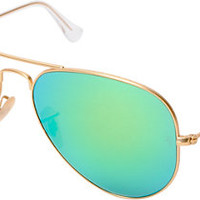 Ray-Ban Aviator Matte Gold Large Metal Sunglasses