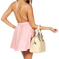 Blush X-Back Skater Dress