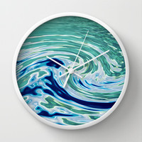 OCEAN ABSTRACT 2 Wall Clock by catspaws