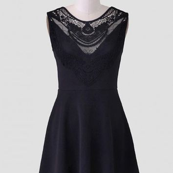 Frederica Crochet Detail Tunic Dress