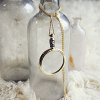 70's Spyglass Necklace - Gold