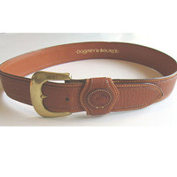 Dooney & Bourke Vintage 1980s Leather Belt Duck Logo