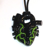 Poison Blood-- Anatomical heart necklace