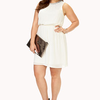 Touch-Of-Glam Fit & Flare Dress