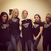 American Horror Story Coven Graphic Tee On Wednesdays We Wear Black Top Supreme Cordelia Sarah Paulson Tumblr Hipster