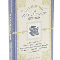 Lets Bring Back Lost Language Edition