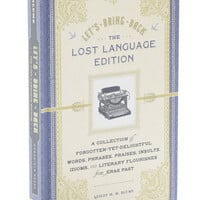 Let's Bring Back Lost Language Edition | Mod Retro Vintage Books | ModCloth.com
