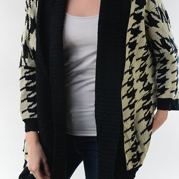 Chevcheck Cardigan
