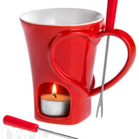Sweethart Fondue Set: Enjoy snack-size fondue anytime
