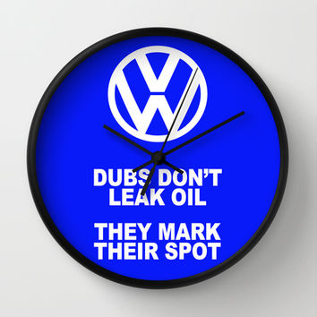 VW Mark the Spot Wall Clock by Alice Gosling