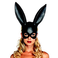 NEW Sexy Bondage Masquerade Bunny Rabbit Mask Adult Halloween Costume Accessory