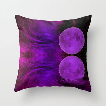 ONCE IN A PURPLE MOON Throw Pillow by catspaws