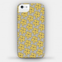 Gray and Yellow Flower Case