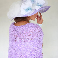 Weddings Shrug Lilac Knitted Bolero Lilac Shrug Bridal Shrug Occasional Shrug