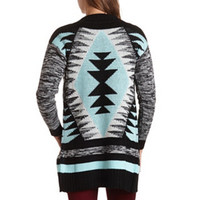 MARLED AZTEC CARDIGAN SWEATER