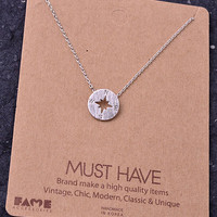 Small Compass Necklace