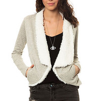 The Lola Lurex French Terry Cardigan