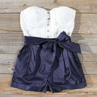 Road Trip Romper in Navy