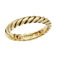 David Yurman LU 18 KYG Cable Twist Ring, 8/10 Condition - 			        	For Your Little One: Designer Pieces Shop
