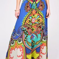 Gypsy Bold Maxi Skirt | Bright Skirts at Pink Ice
