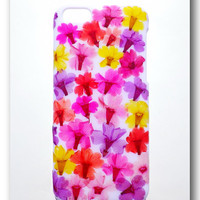 Handmade iPhone 5C case, Resin with Dried Flowers, Colorful ( 2 )