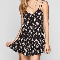 FULL TILT Daisy Print Slip Dress