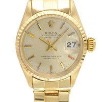 ROLEX Datejust Made In Switzerland 18K YG Women's Watch